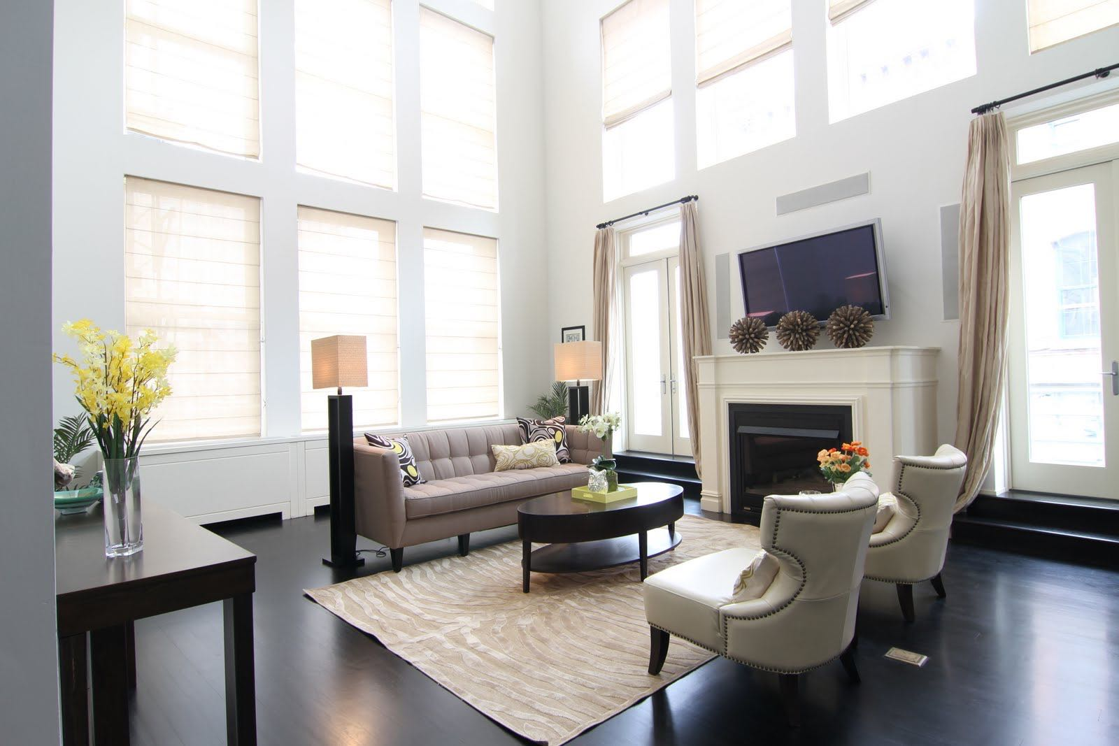 The apartment felt tired and the room felt small.  Adding correctly scaled furniture to any room will make it feel so much larger and so much more valuable.