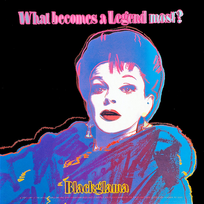 The Judy Garland campaign was the subject of Andy Warhol's 1985 Pop art screen print series.