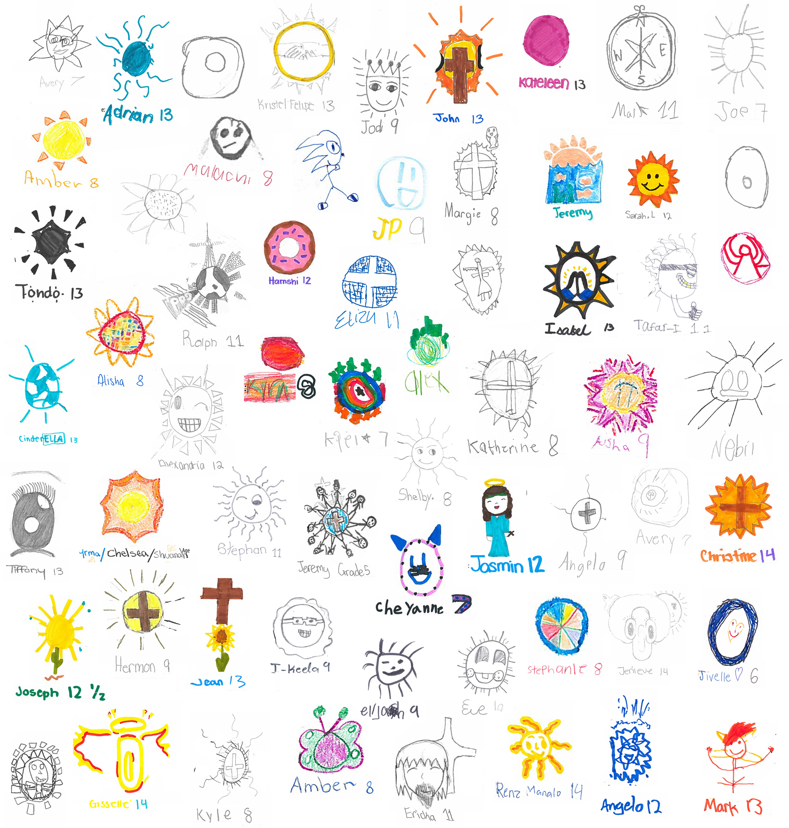 We collaborated with the TCM kids and asked them to help us design the Sonshine logo, these are the entries.  Find out more .