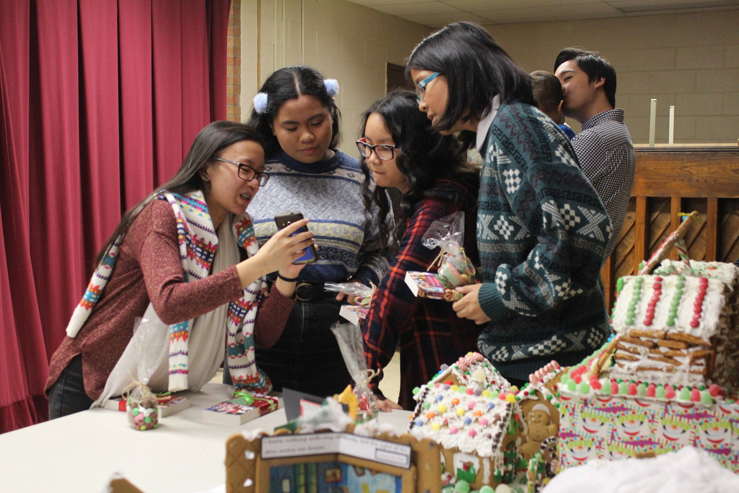 Some of the teens during Gift of Christmas 2016