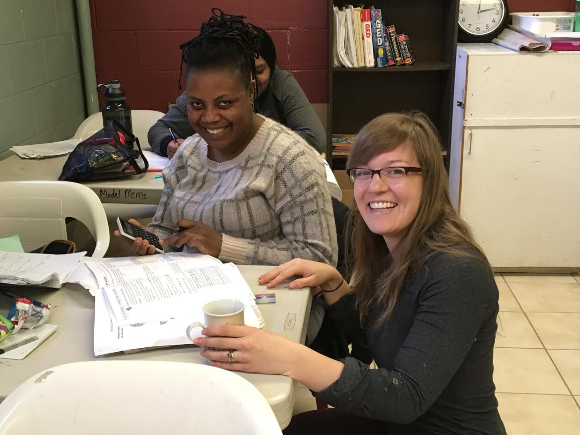 Leah (right) feels encouraged while volunteering at RMM