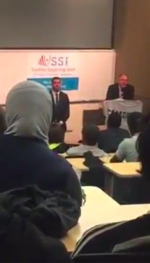 A screenshot from a video of the event.