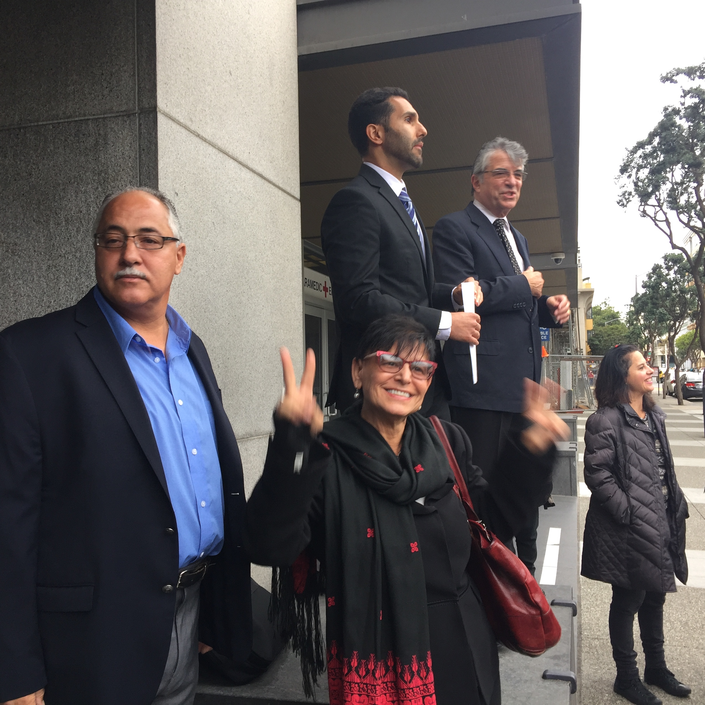 Dr. Abdulhadi on november 8 after Judge Orrick said he would dismiss the lawfare suit.