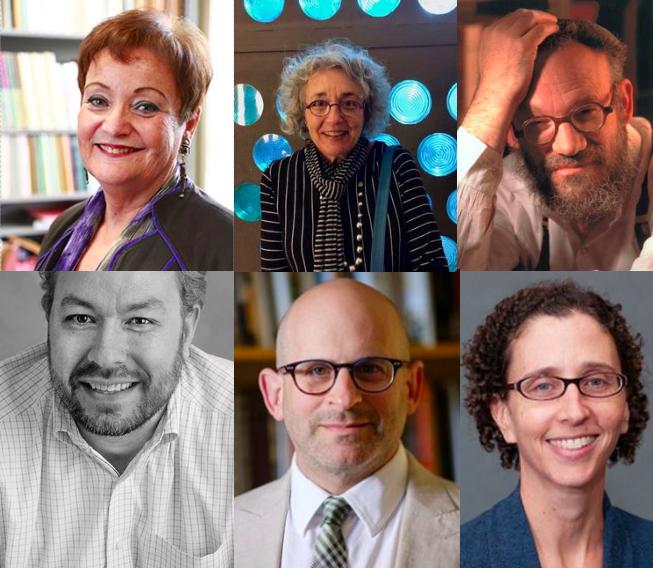 Left to right. Top: Chana Kronfeld, Diane L. Wolf, Daniel Boyarin. Bottom: Aaron Hahn Tapper, Barry Trachtenberg, Marjorie Feld.