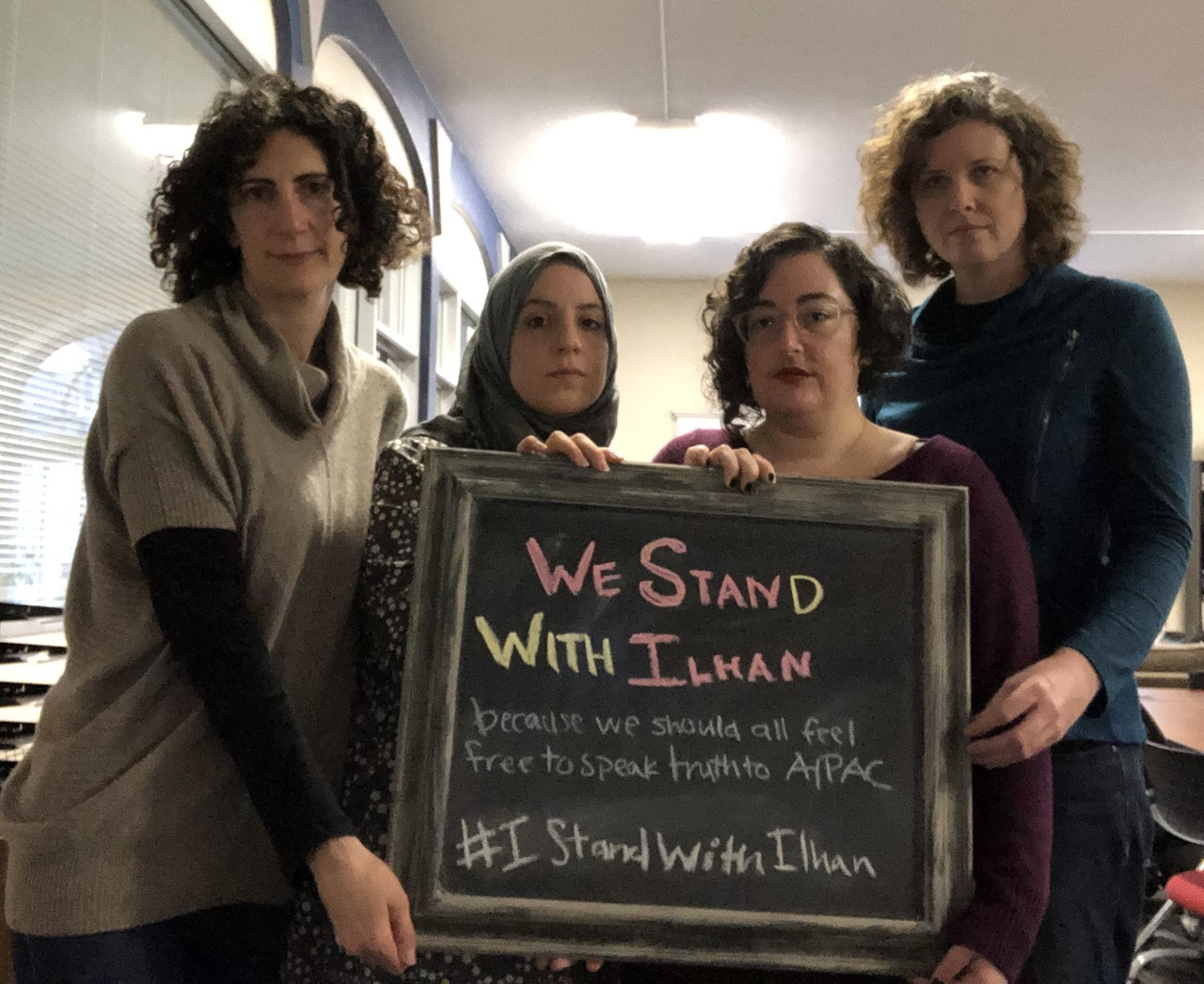 Our Bay Area staff attorneys join Jewish Voice for Peace to #StandWithIlhan.