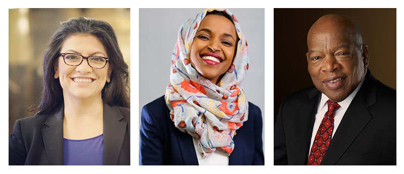 Reps. Rashida Tlaib, Ilhan Omar, and John Lewis recently introduced a resolution calling on Congress to affirm the right to boycott.
