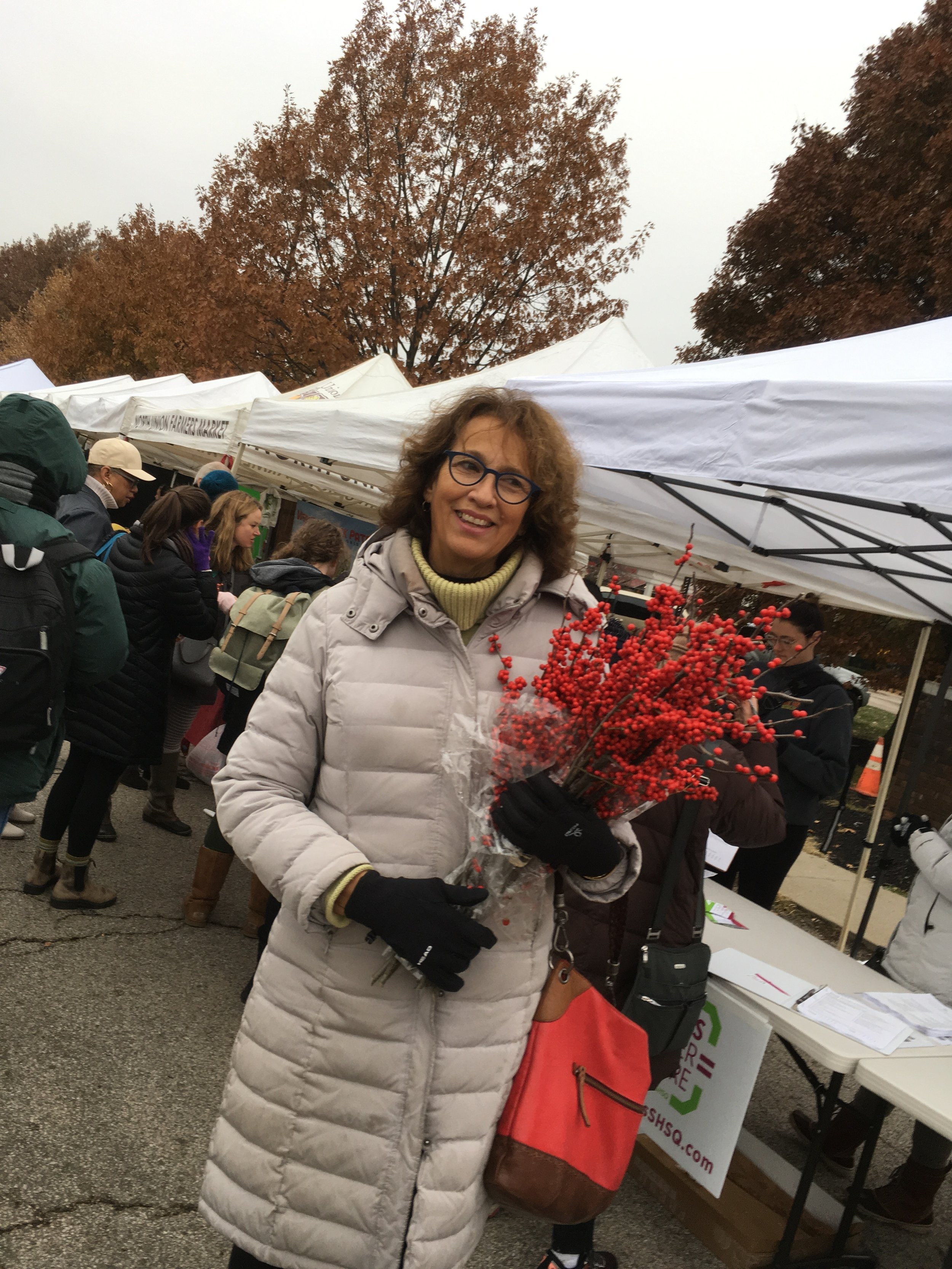 Donita Anderson of North Union Farmers Market, now in its 24th year on Shaker Square.