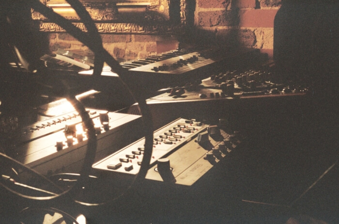 Electric Ape playing a live analogue hardware set at Hare & Hounds, Brighton for Euphony In Electronics 1.1.