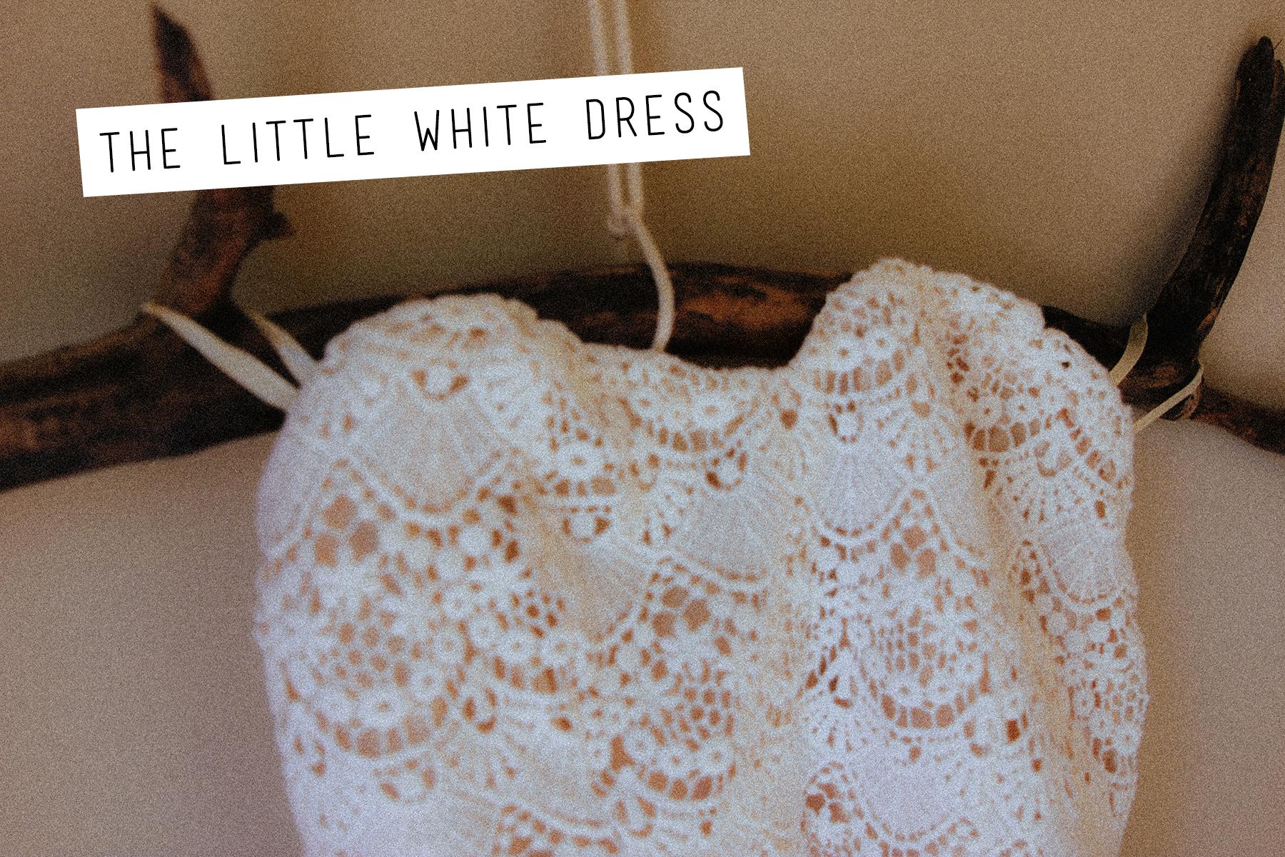 Ark & Co   Beige Crochet Lace Strapless Dress
