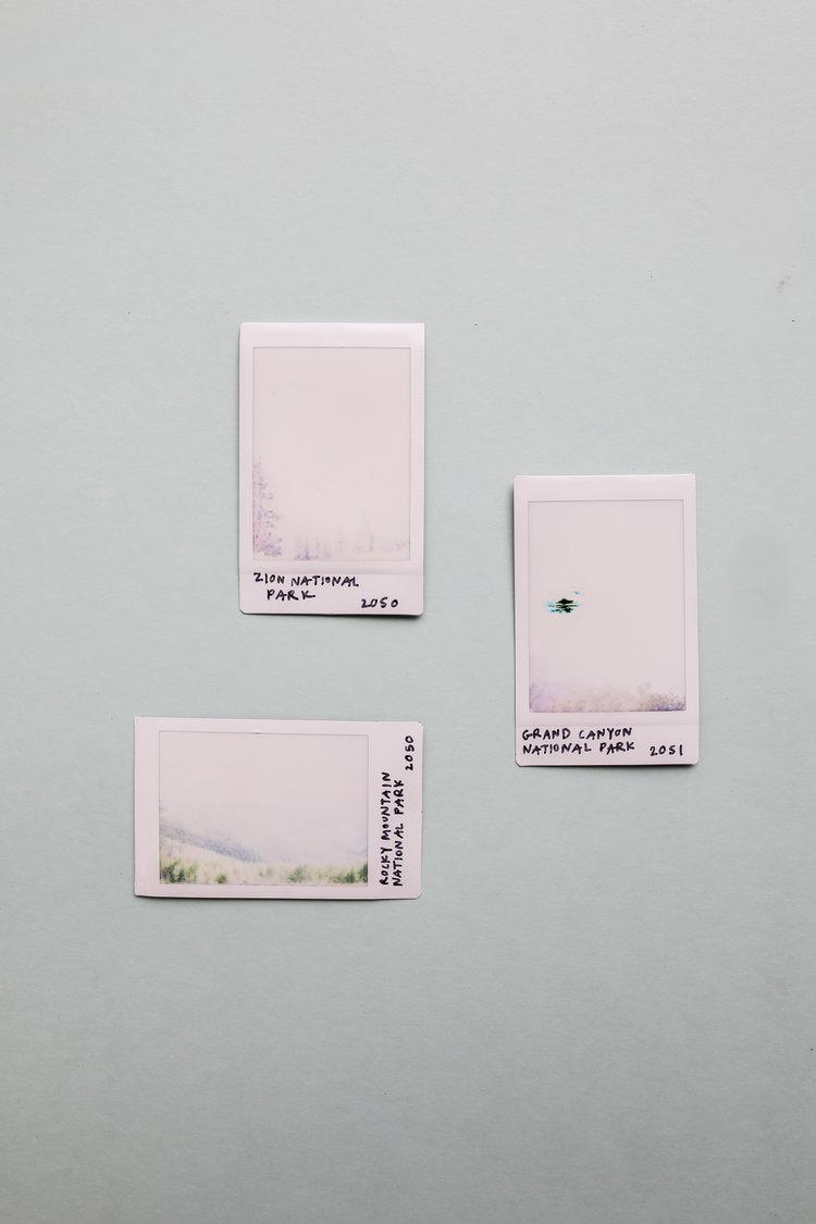 #POL_ROIDS, 2017  1.81 x 2.44 in.  Fuji Instax Mini Polaroids