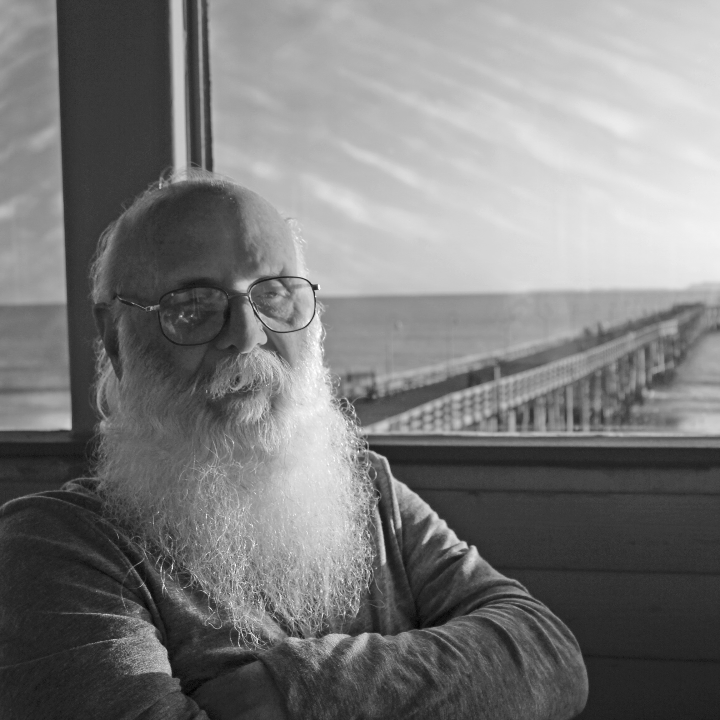 Ralph Mahan hanging out at the Ventura Pier.