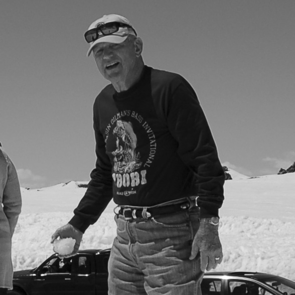 Joe C. Neal throwing snowballs on Montana's rooftop.