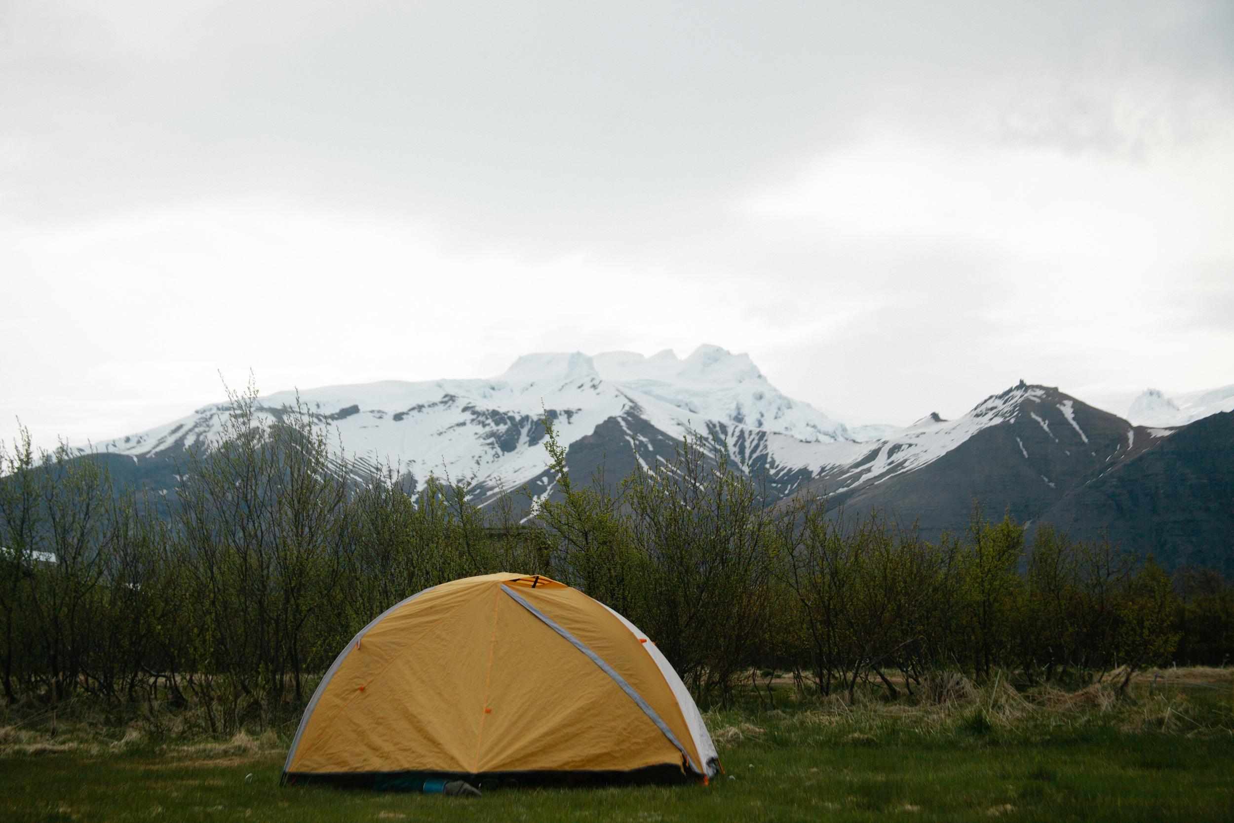Camping in Skaftafell.