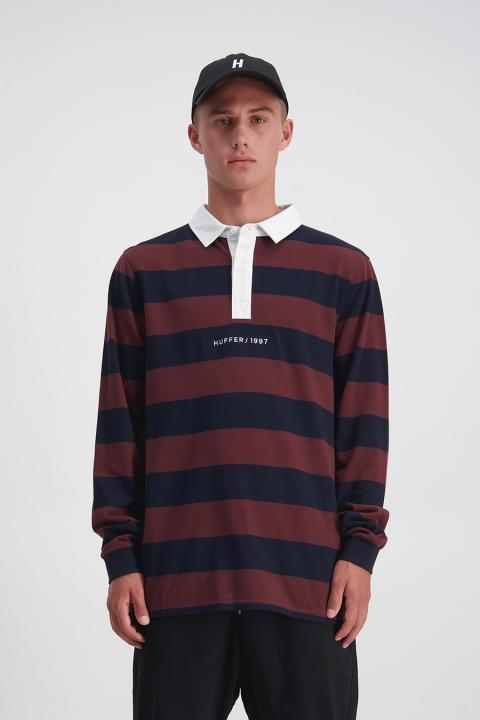 Long Sleeve Rugby Jersey (Navy/Rum) - $119.90