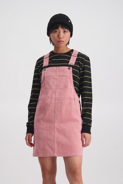 Cord Dungaree Dress (Raspberry) - $149.90