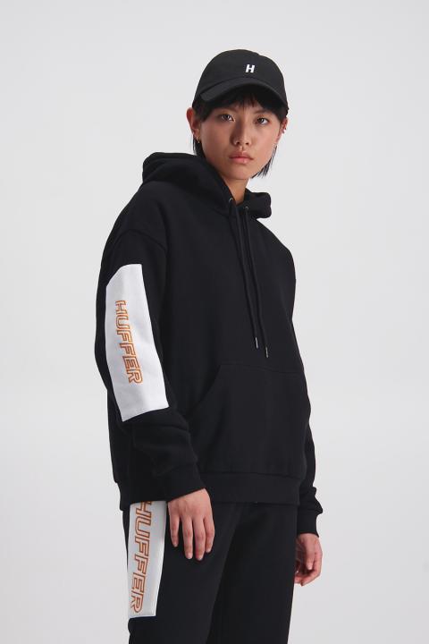 Kiro  Slouch Hoody 2.0 (Black/White) - $129.90