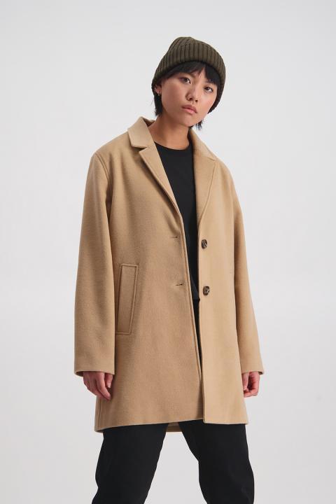 Narrow Lapel Coat (Tan) - $279.90