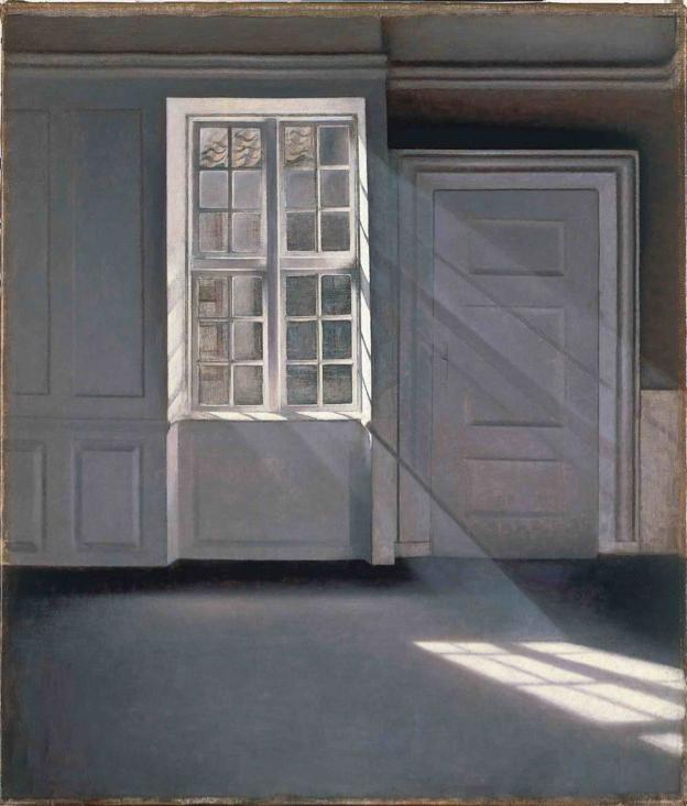Atmosphere // Vilhelm Hammershøi:  Støvkornenes dans i solstrålerne  (1900)