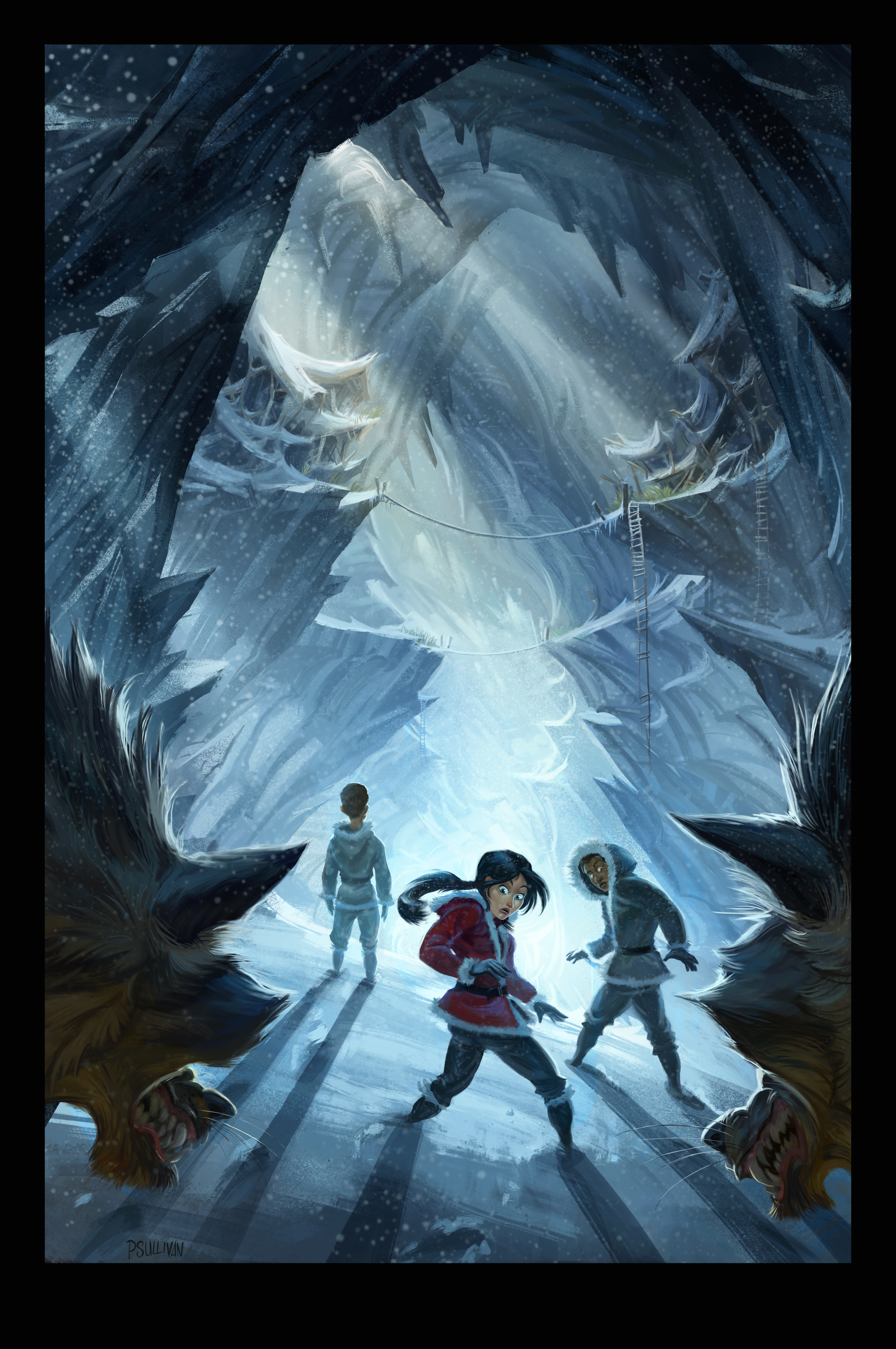 Arctic Code Cover art by Paul Sullivan published by Harper Collins