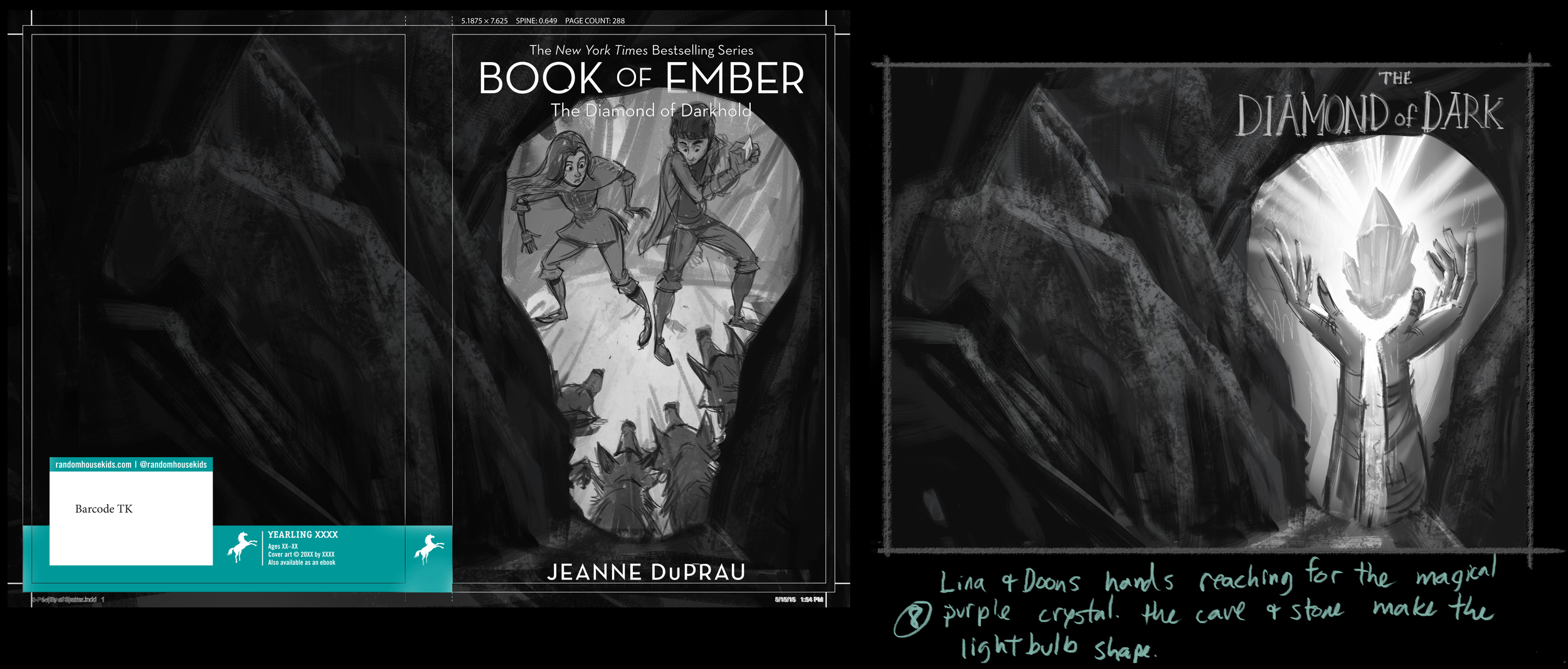 """Some roughs from the 3rd book, """"The Diamond of Darkhold."""