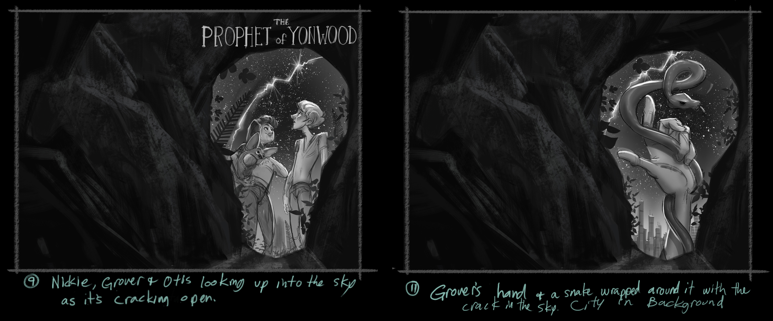 "Roughs for the last book in the series, ""the Prophet of Yonwood"" This book seemed to go the smoothest."