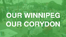"""This Corydon Avenue BIZ  streetscaping art project features eight huge metal figures representing Corydon Avenue, Little Italy and Our Winnipeg. The 8"""" tall steel frames will be on display along the Avenue during summer months."""