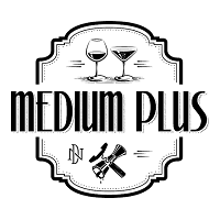 Click the logo to visit the Medium Plus website,  elevated wine and cocktails experience