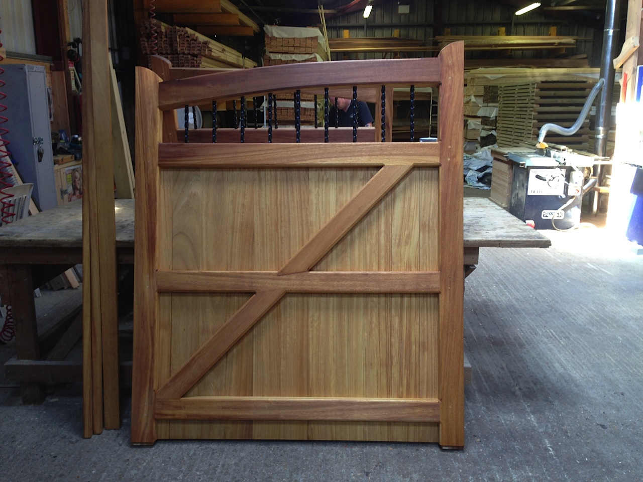 Westminster Gates in Iroko
