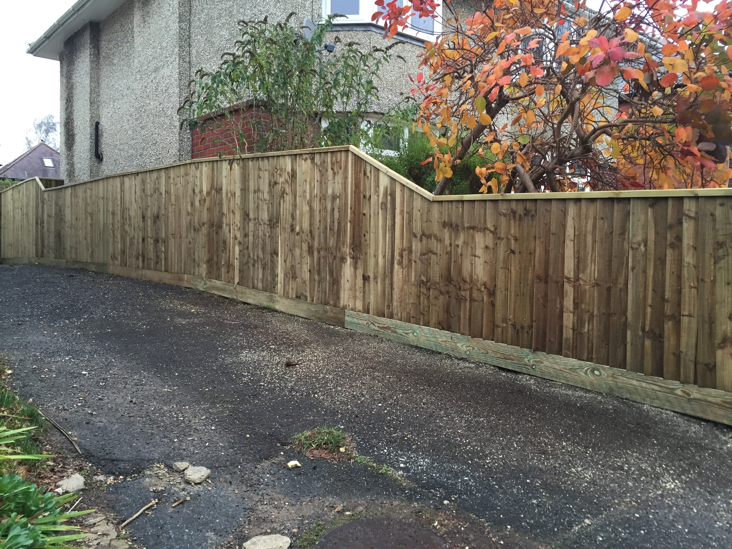 Finished Fence, all timber is pressure treated.