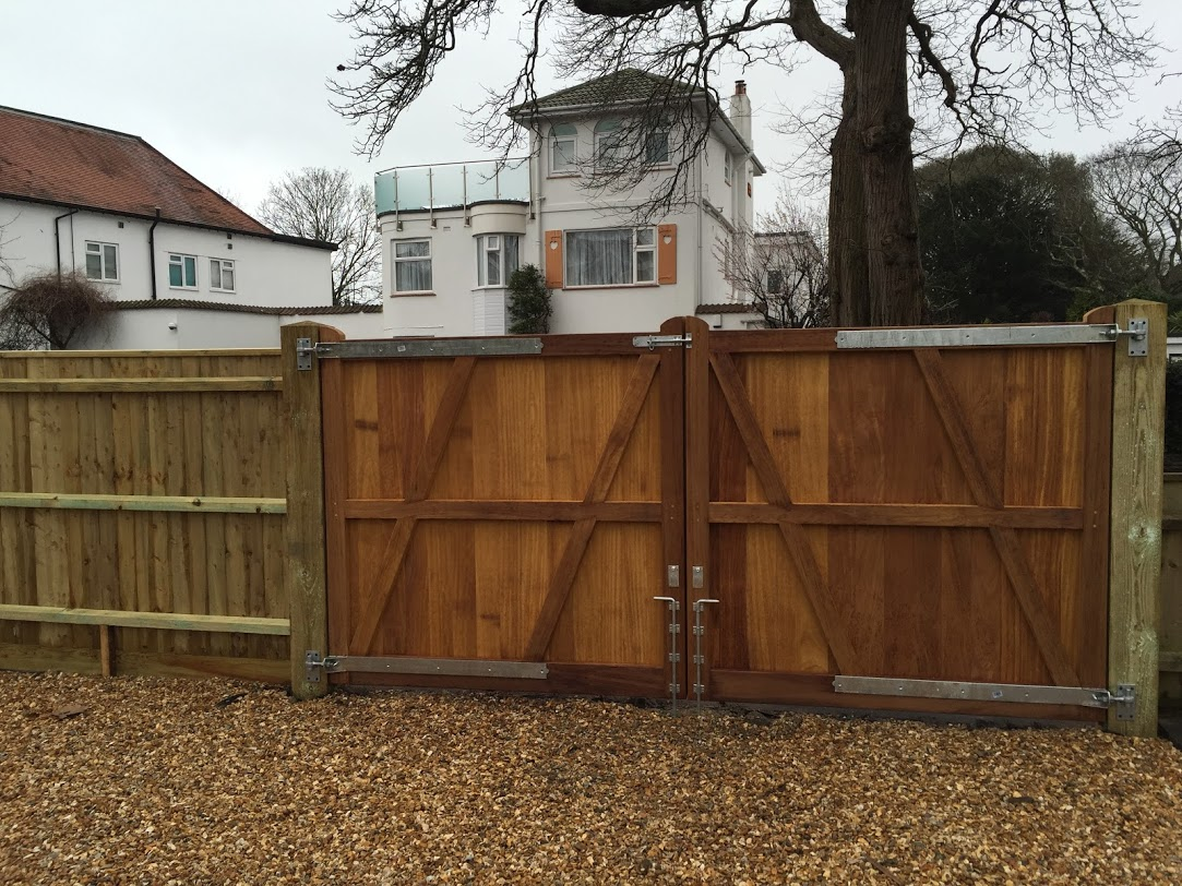 Showing the Rear of Iroko Richmond Gates