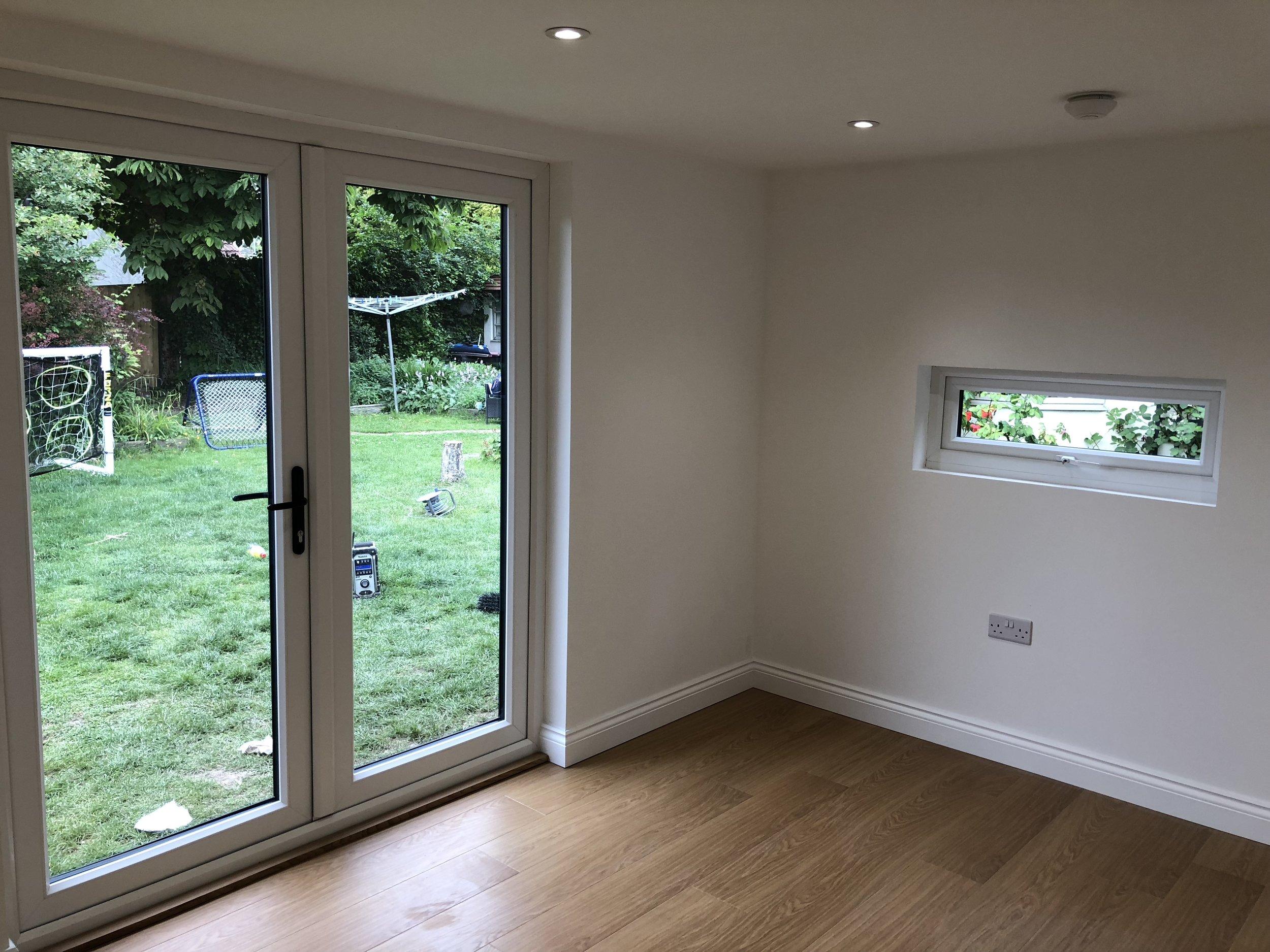 Oak Floor in Garden Office