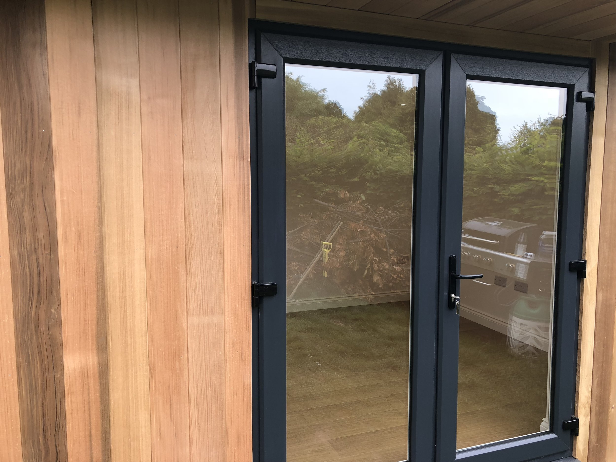 Anthracite UPVC Door on Garden Building