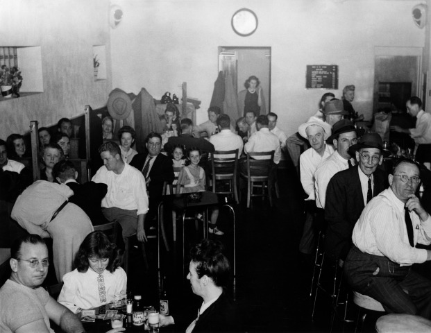 Faces along the bar - A professionally staged photo of the tavern