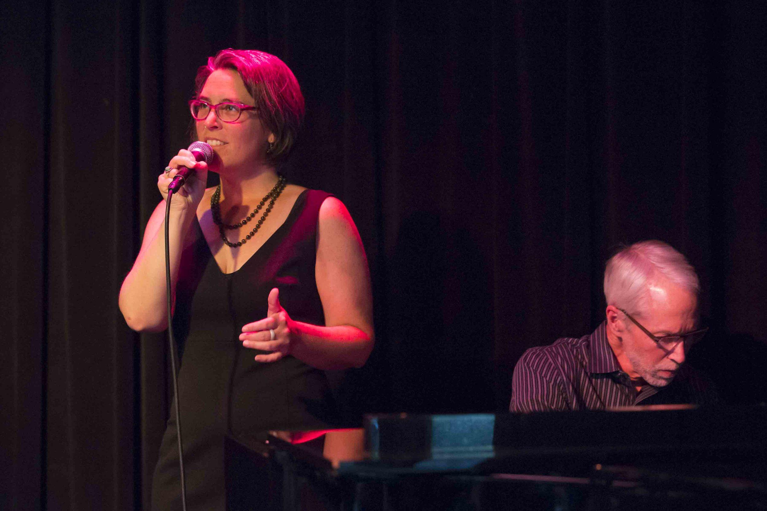 With Carrie Wicks at Egan's Ballard Jam House, May 2014