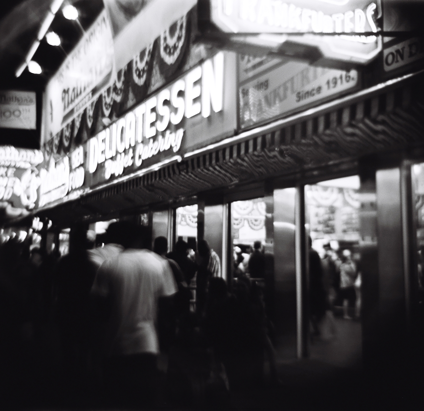 NATHAN'S DELICATESSEN AT NIGHT