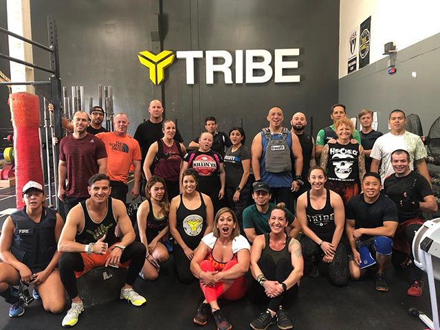 "When Coach @bhern_1 cooks up a ""fun"" little workout for Saturday morning #itsnotmurph #butitismurph #itsnotaherowod #butitisaherowod #tribemeansfamily #tribestrong #tribeordie #crossfittribe #tribefunctionalfitness #losalamitos #sealbeach #lakewood #longbeach #strongbeach"