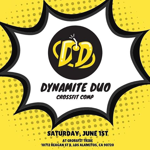 6th ANNUAL DYNAMITE DUO! . .  Like last year, this year's Duo will be a competition with partners of the same sex. . . -There are 3 divisions: Rx, RX Masters and Scaled (all ages). -The competition will consist of three workouts -Early Registration (by April 3oth) for this event will be $120 per pair, and go to $150 on May 1st. The registration will cover the cost of the t-shirt an prizes for the top finishers. -We are capping the competition at 60 teams. -Team must register NO LATER THAN MAY 25th!!! . .  Movements List (subject to change) Burpees  Toes-to-Bar (scaled Knee Raises) Box Step Overs  Chest-to-Bar Pull-ups (scaled Ring Rows) Deadlifts  Thrusters  Snatches DB Power Snatch  Handstand Walks  Clean & Jerk . .  Link in BIO Password: dynamiteduo2019 . . .  Competition Policies  No refunds  #tribe #tribestrong competitiontime #dynamiteduo #invitationonly #registertoday