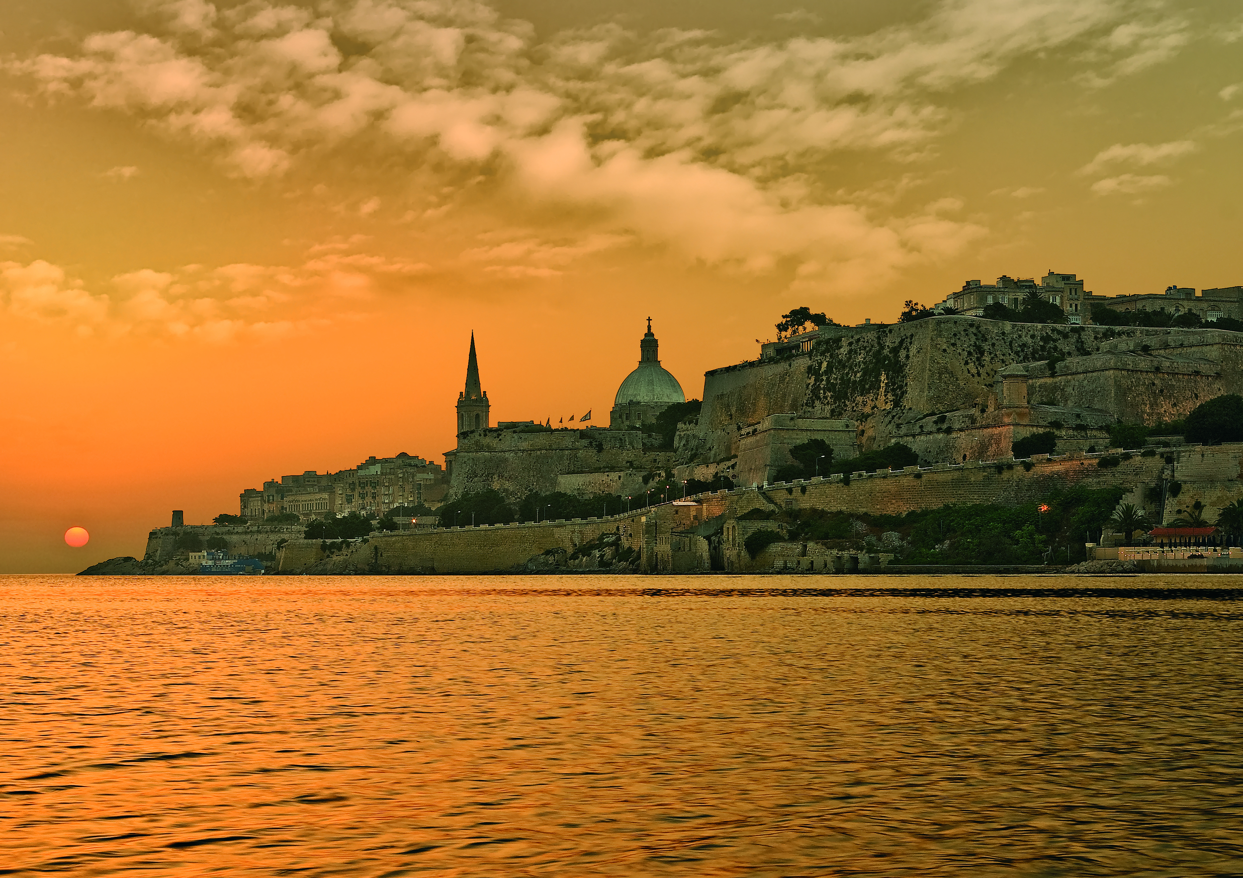 valletta-sunset