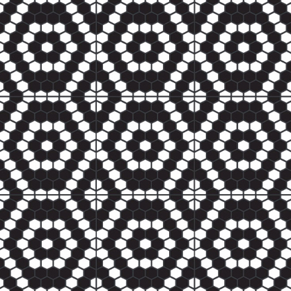 Hexagon tile mosaic by Sabine Hill available at Statements.