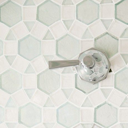 Oceanside Glass Tile wall mosaic available at Statements.