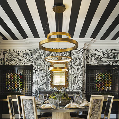 From the 38th San Francisco Decorator Showcase, 2015. Dining room by Cecilie Starin via Pinterest.