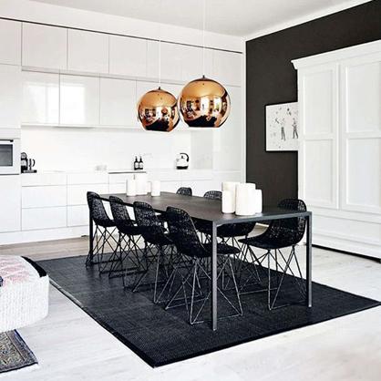 A Copenhagen apartment via Elle Decoration.