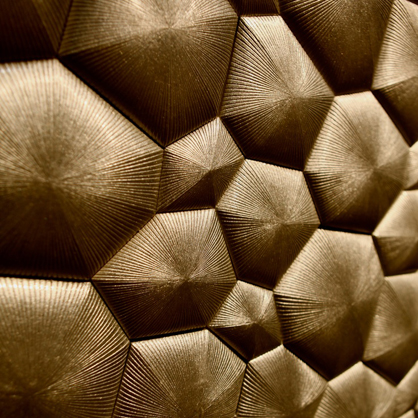 Bronze wall installation at the ICFF.