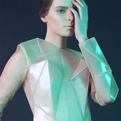 Triangular shaped dress.