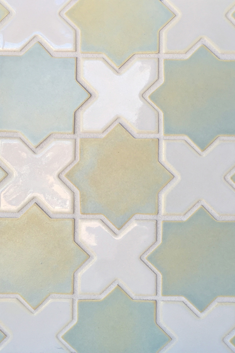 Cross and Star mosaic tile.