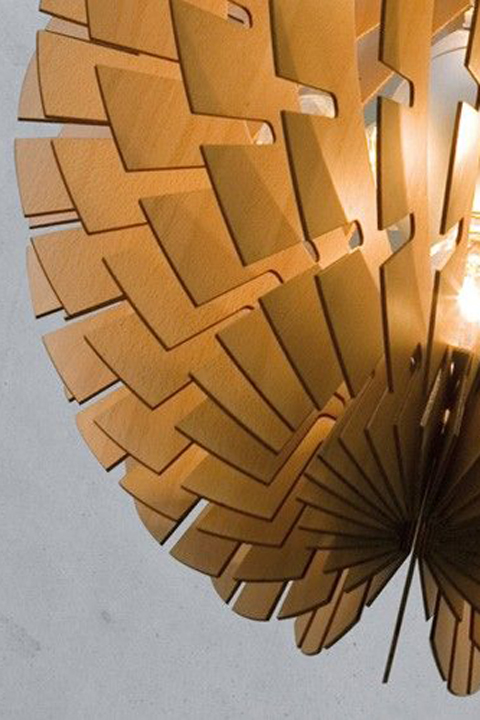 Helios Wood Pendant Light.