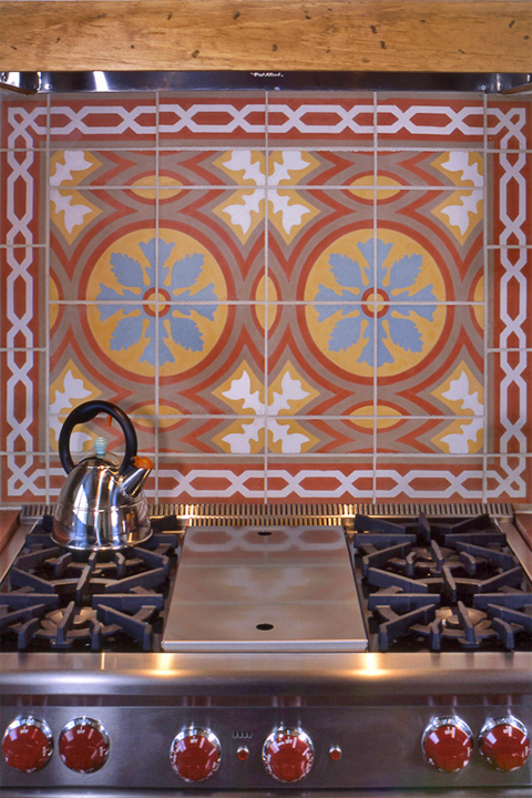 Custom kitchen back splash by Statements In Tile.