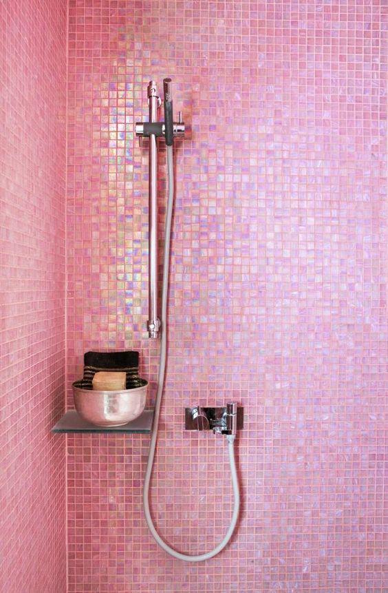 Pink Iridescent Tile.