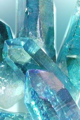 Blue Crystal Hexagonal Shape