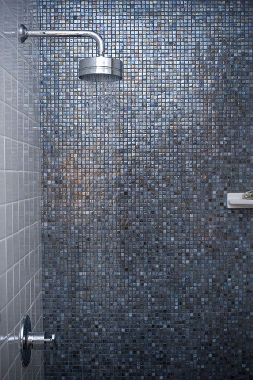 Iridescent tile in a project by Filmore Clark.